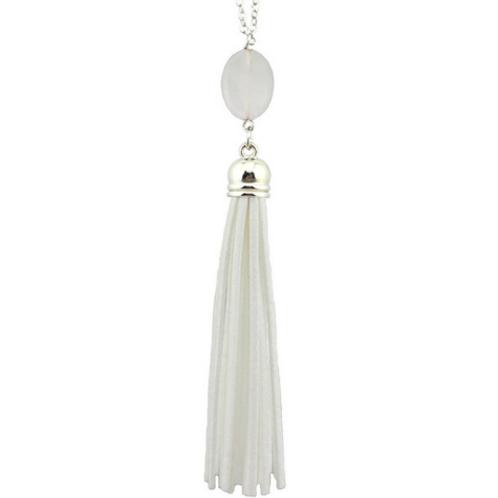 Tassel Pendant In White
