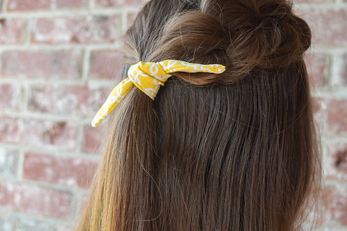 Yellow and White Hair Tie