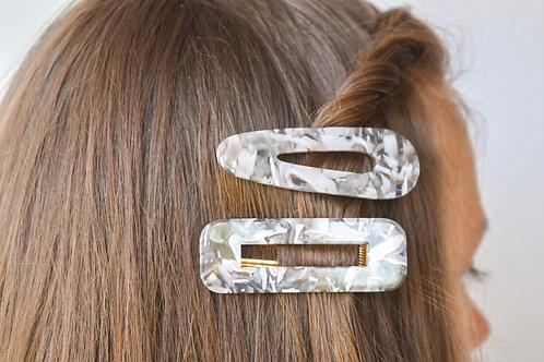 Marbled Clip Set