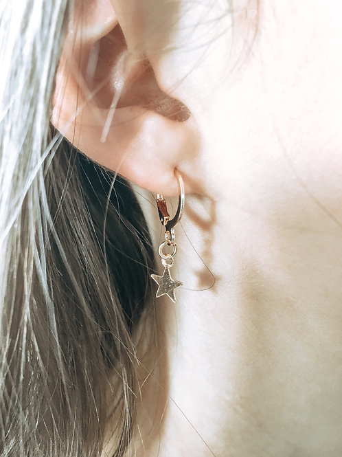 Simply Starry Huggie Earrings