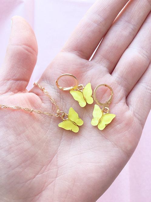 Yellow You Give Me Butterflies Set