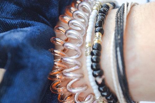 Rose Gold Spiral Hair Tie