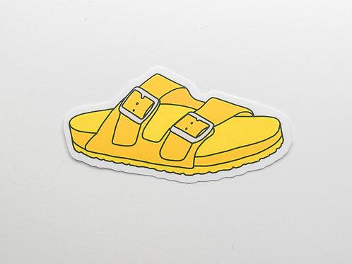 Yellow Birkenstock Sticker