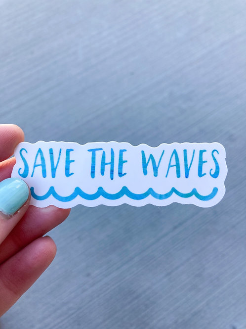 Save The Waves Sticker