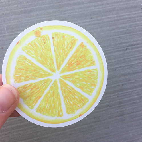 Lemon Slice Sticker
