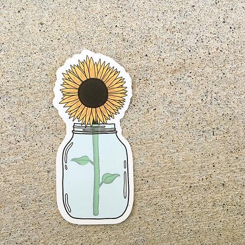 Jar of Sunflowers Sticker