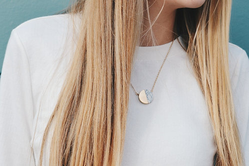 Marble Moon Necklace