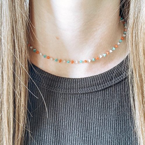 Falling For You Beaded Choker
