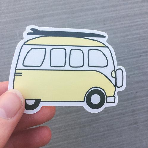 Surf Van Sticker