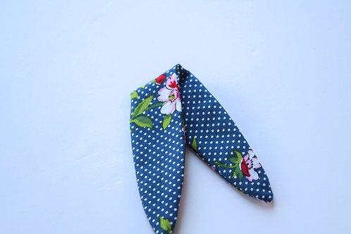 Navy Floral Hair Tie