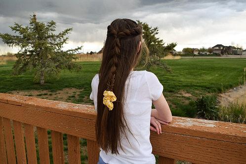 Yellow and White Scrunchie