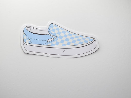 Blue Vans Sticker