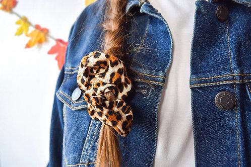 Leopard Print Scrunchies