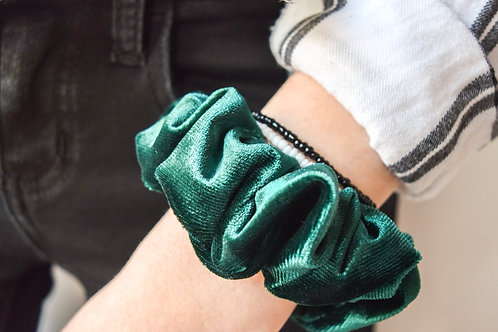 Velvet Evergreen Scrunchie