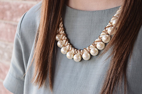 Pearls with a Twist Necklace