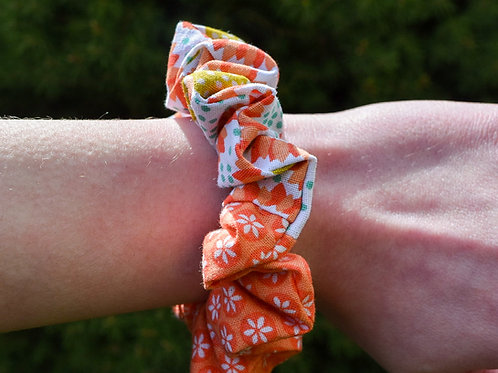 Sunflower Colorblock Scrunchie