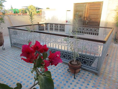 Terrasse fleur riad