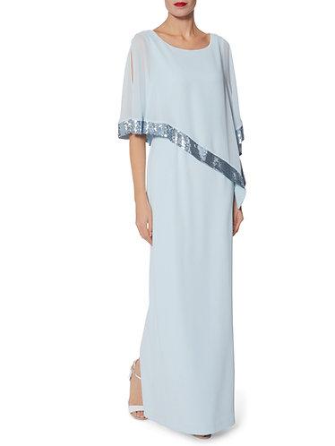 Gina Bacconi Long Shawl Dress