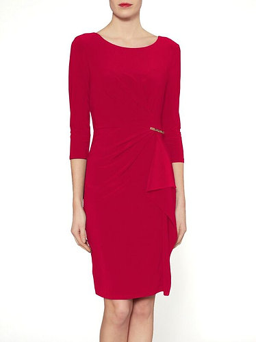 Gina Bacconi 3/4 sleeve dress with gold detailing