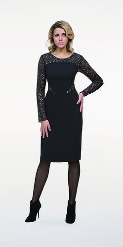 Michaela Louisa Dress With Lace inset