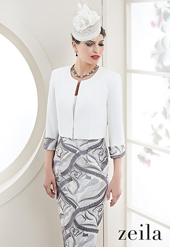 Zeila Silver and Ivory Outfit