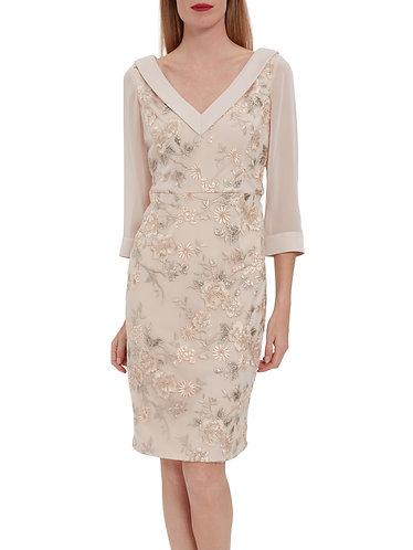 Gina Bacconi Stunning Embroidered Dress