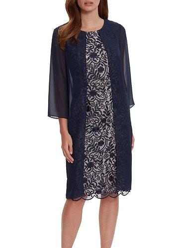 Gina Bacconi Lace Coat Dress