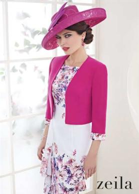 Zeila Superb Navy & Fuchsia Outfit