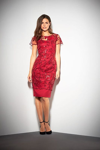 Gina Bacconi Stunning Red Lace Dress