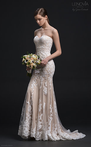 Lenovia Stunning Lace Bridal Dress