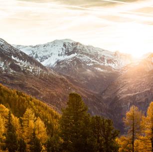 Herbstliche Ausblicke auf die Gasteiner Bergwelt