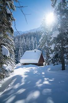 Winterlandschaft in Gastein