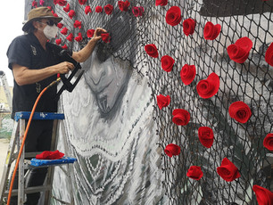 Boyle Heights' Rose River Memorial Project Honors Victims of COVID-19 Pandemic