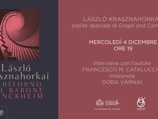 László Krasznahorkai ospite speciale - mercoledì 4 dicembre