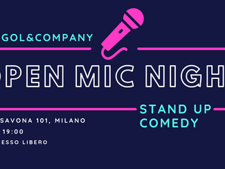 OPEN MIC NIGHT - giovedì 21 novembre