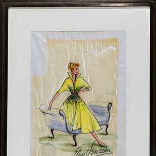 Lucille Ball, Fashion Sketch for 'I Love Lucy' 1940