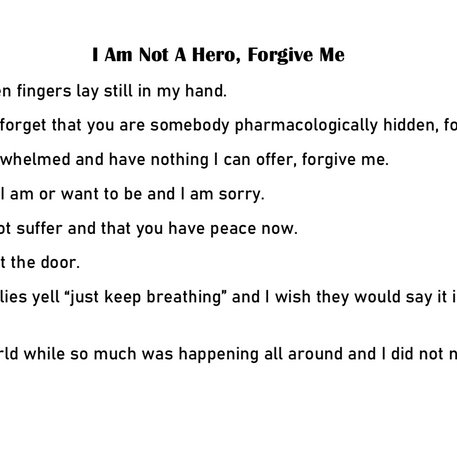 'I Am Not A Hero' By Joanne McGlinchey
