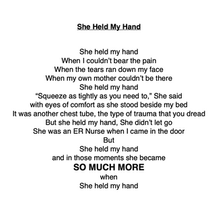 'She Held My Hand' By Rosly Roz Welch