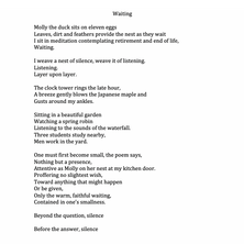 'Waiting' By Deborah Shinn