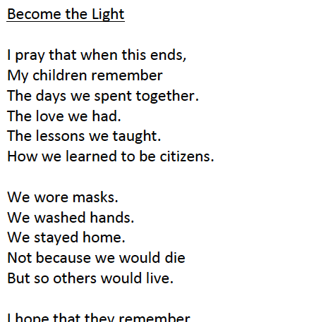 'Become the Light' by Ellen Moreno