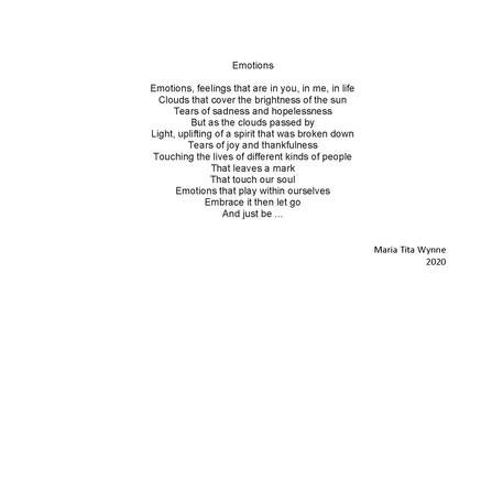 'Emotions' by Maria Tita Wynne