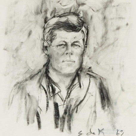 Portrait of John F. Kennedy, 1963, 'Women Who Dared' Collection