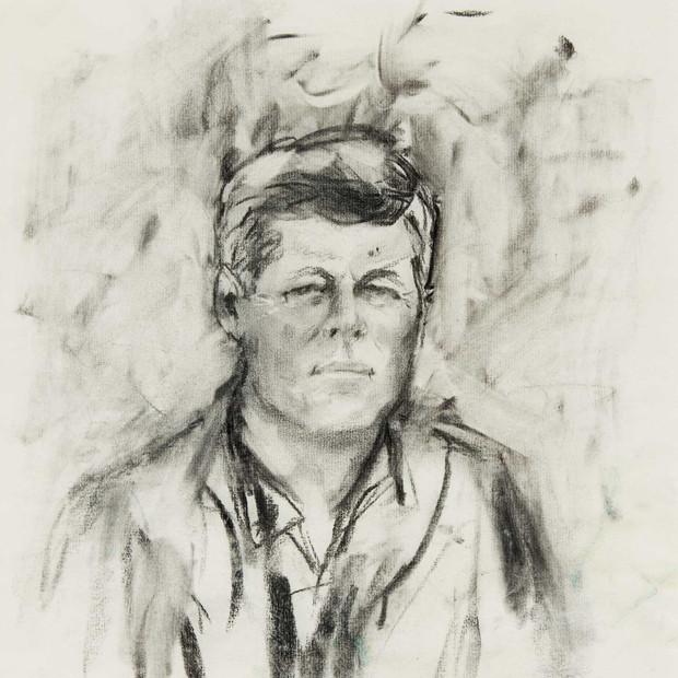 ELAINE DEPortrait of John F. Kennedy, 1963