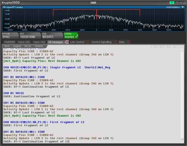 Krypto1000 SIGINT COMINT decoding software - traffic analysis