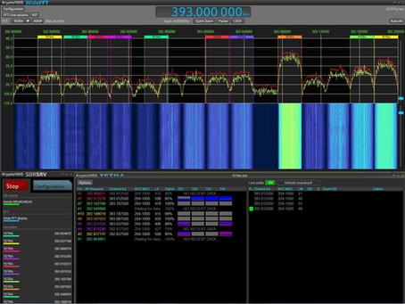 Wideband, multichannel VITA49 streaming with Krypto1000 and the Sagax SRS-3000 receiver