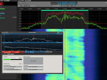 Wideband Streaming: Krypto1000 and Sagax SRM-3000 Receiver