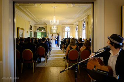 Wedding ceremony at the Hycroft Manor in Vancouver, British Columbia