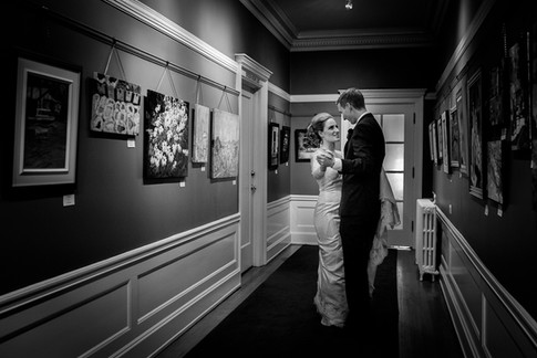 Wedding photo at the Hycroft Manor in Vancouver, British Columbia