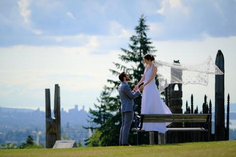 Burnaby Mountain Park Wedding