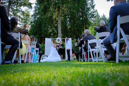 Wedding ceremony at the Westwood Plateau Golf & Country Club, Coquitlam